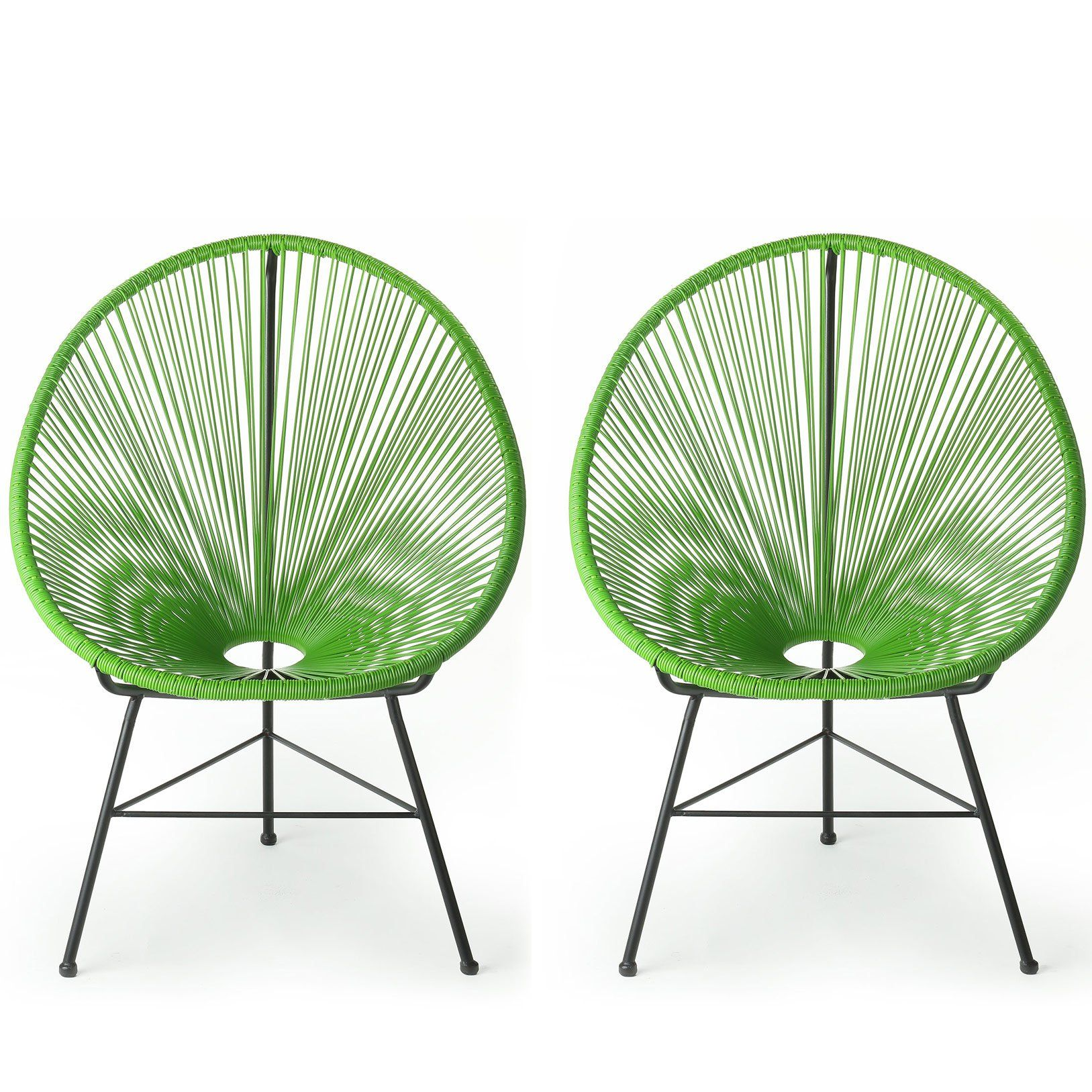 Acapulco chair cb2 - Acapulco Lounge Chair Green Set Of 2 Set Of 2 Chairs Durable