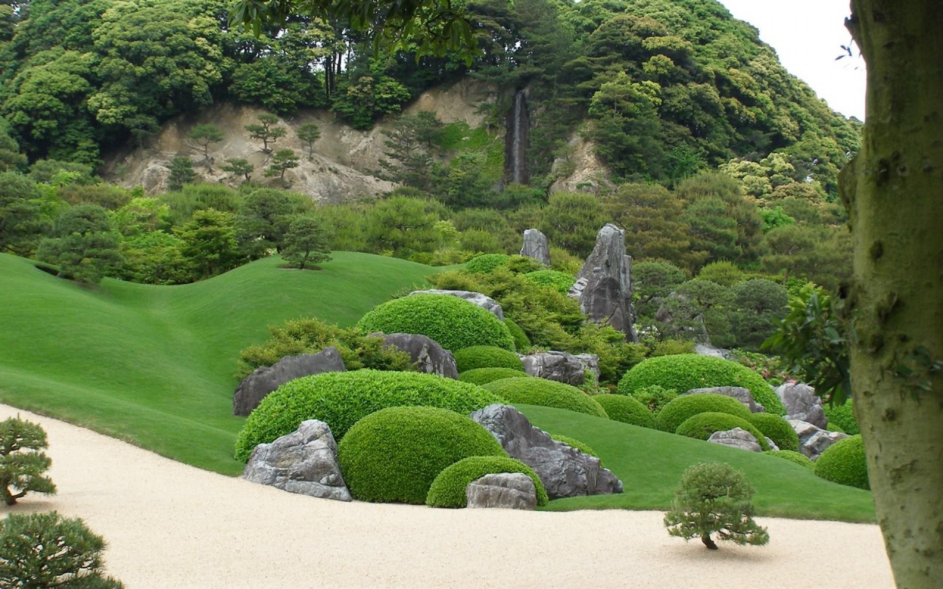 One well manicured hillside. | Zen garden design, Zen ...