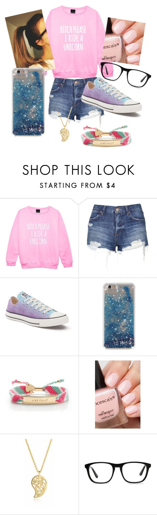 """#❣#"" by lilicabsilveira-1 on Polyvore featuring Topshop, Converse, Kate Spade, Sonal Bhaskaran and Ace"