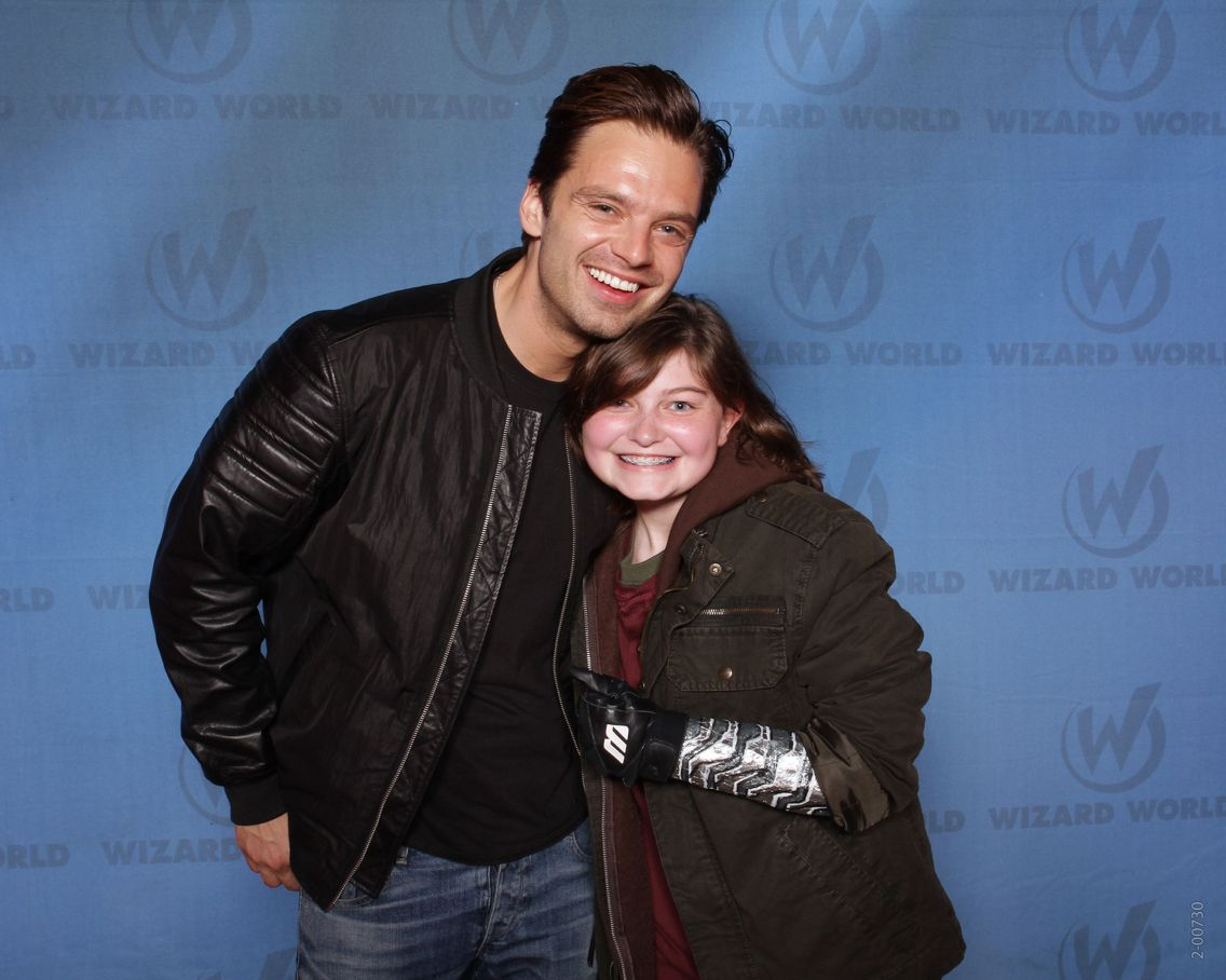Me and Sebastian Stan at Wizard World: Philly. Best day ever!!!