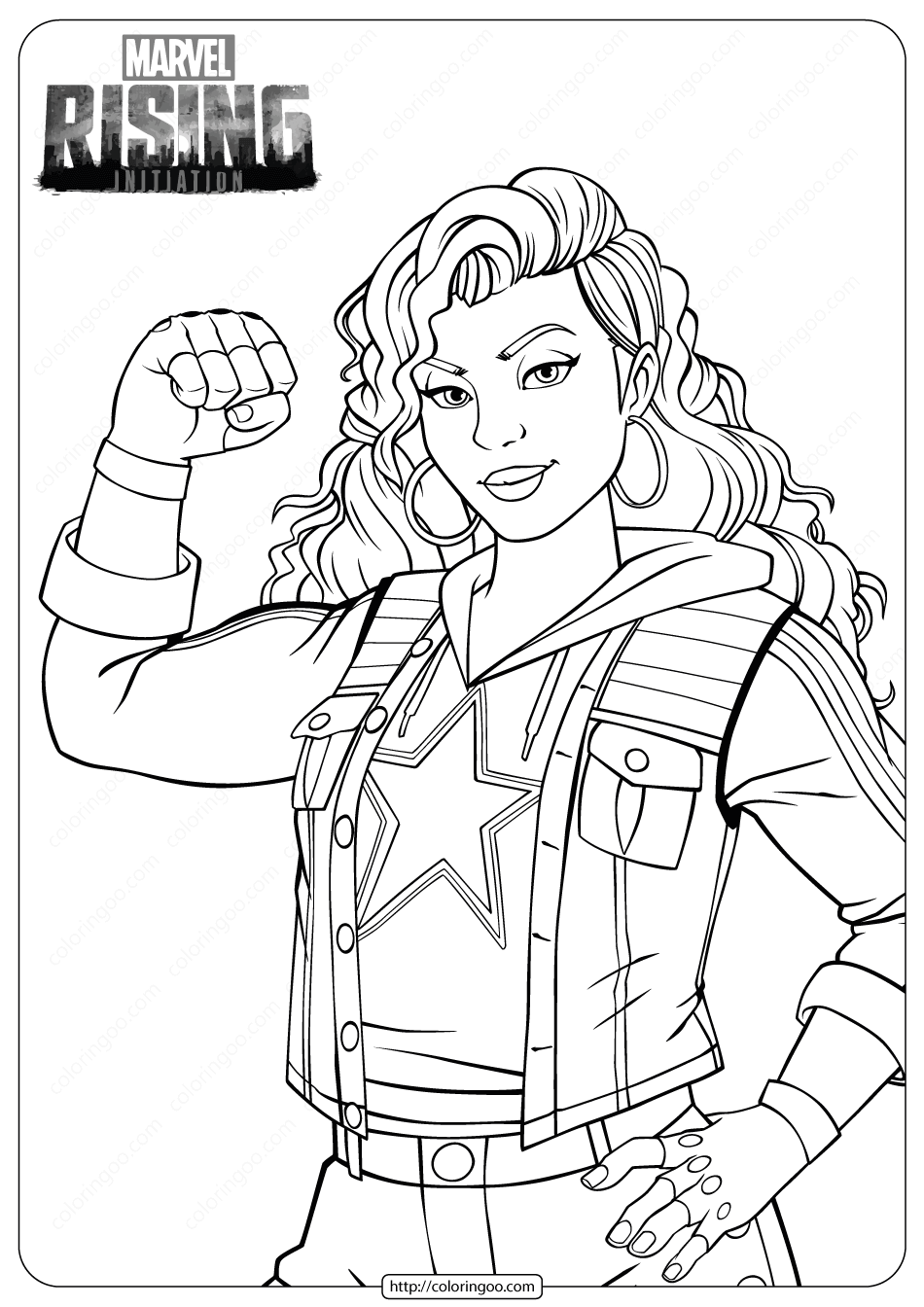 Marvel Rising Miss America Coloring Pages Miss America Coloring Pages Marvel