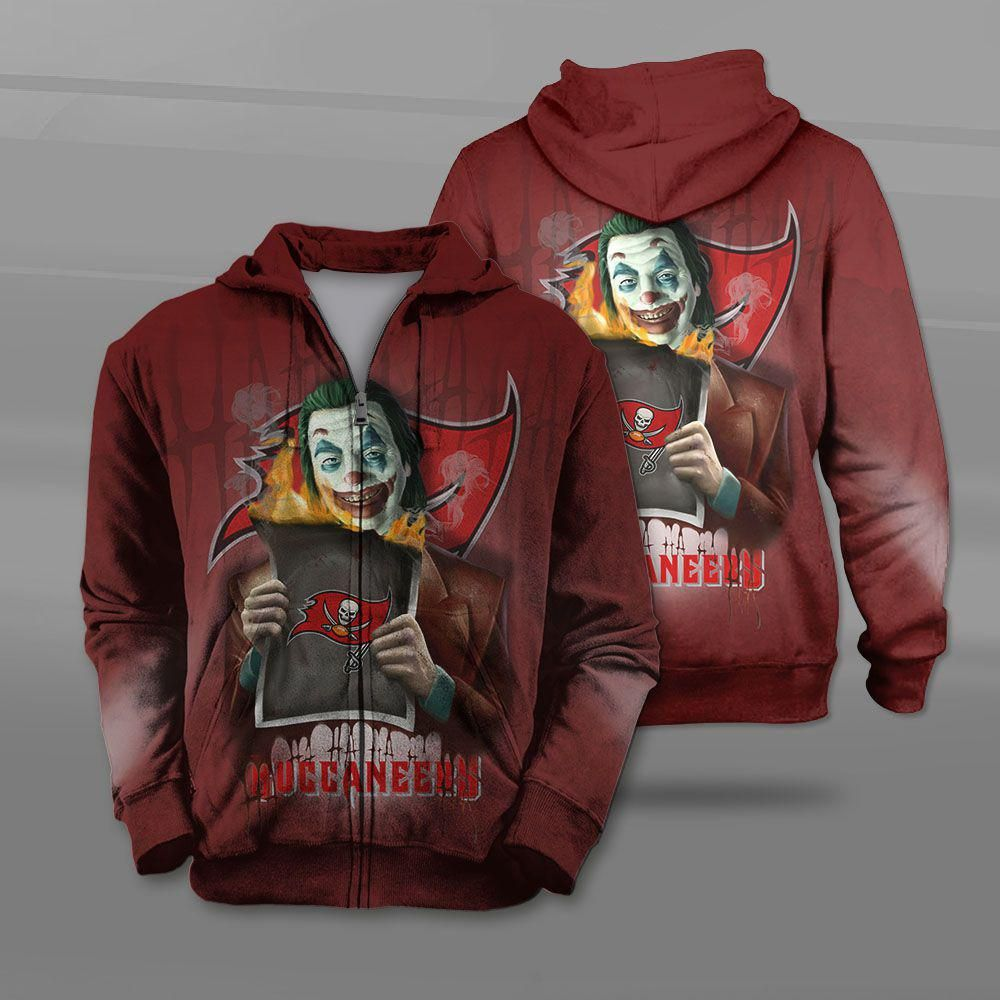 Tampa Bay Buccaneers Hoodie 3d Cheap New Design Joker Sweatshirt Nfl Mike S Sport Fan Sweatshirts Pullover Sweatshirts Hoodies