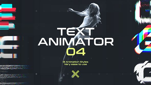 Text Animator 04: Motion Glitch Titles | Glitch, Typography and Fonts