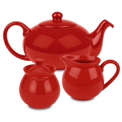 Waechtersbach Fun Factory Three-Piece Ceramic Tea Set