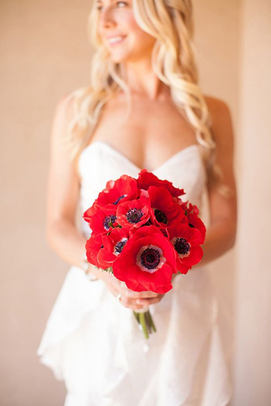Wedding ideas by pantone colour cherry tomato flowers chwv red