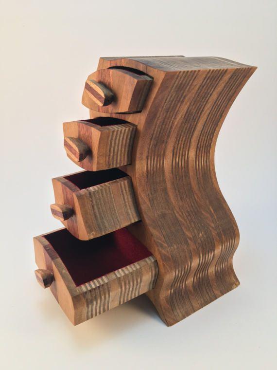 Birch Bandsaw Box ~ This beautiful bandsaw box is made out of poplar mahogany