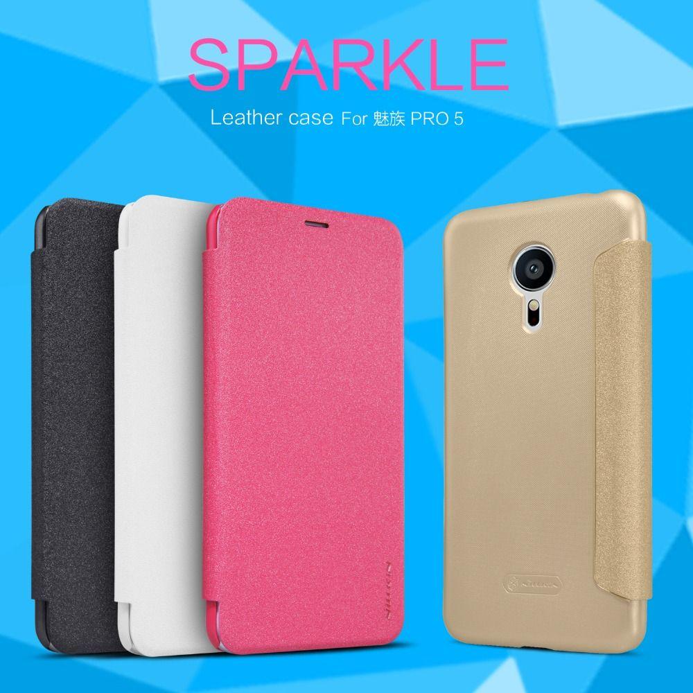 Nillkin New Sparkle Leather Case For Meizu Pro 5 Mx Supreme M578ce Hard M3s M576