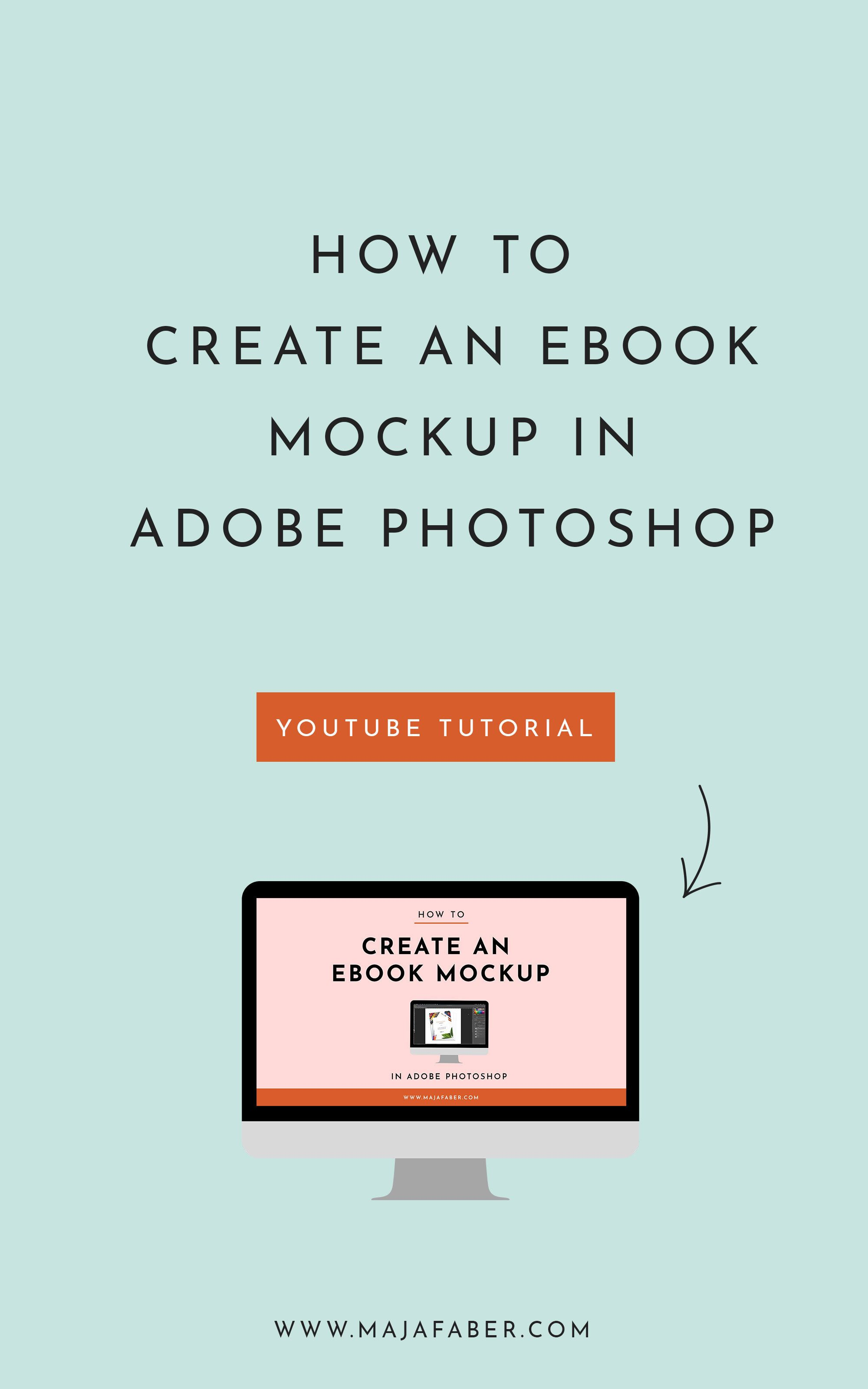 How To Create An Ebook Mockup In Adobe Photoshop In 2020 Photoshop Ebook Photoshop Youtube