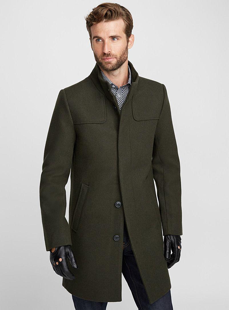 High Neck Felt Coat Le 31 Shop Men S Overcoats Online Simons Overcoat Men Man S Overcoat Men S Trench Coat [ 1086 x 802 Pixel ]
