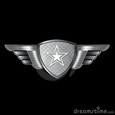 Shield With Wings And Star Logo Star Logo Art Logo Graphic Design Logo