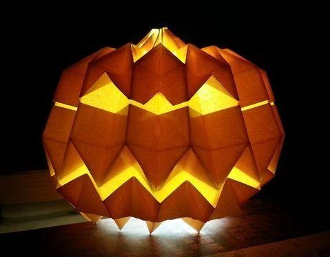Ornament Halloween Origami Pumpkin Halloween Pinterest