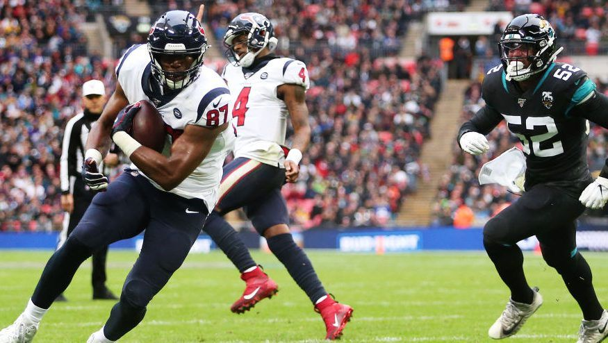 Texans Take 9 3 Halftime Lead In London National Football League