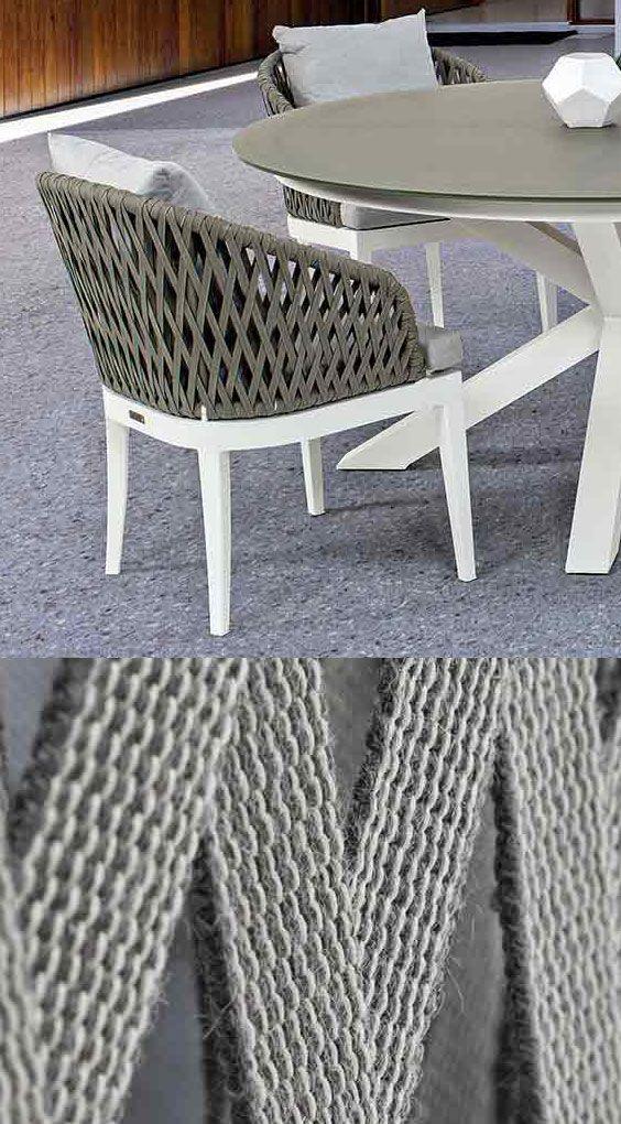 Bizzotto Pelican Gartensessel Aluminium/Rope | Moderne gartenmöbel ...