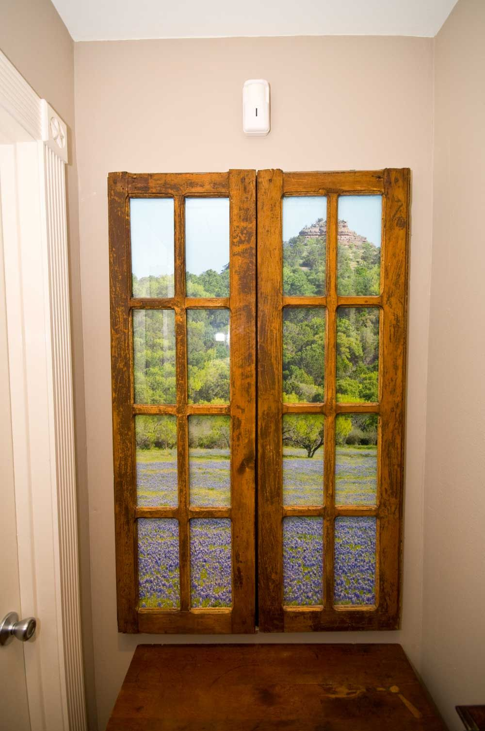 Faux window at end of hallway. | Bath Bits | Pinterest