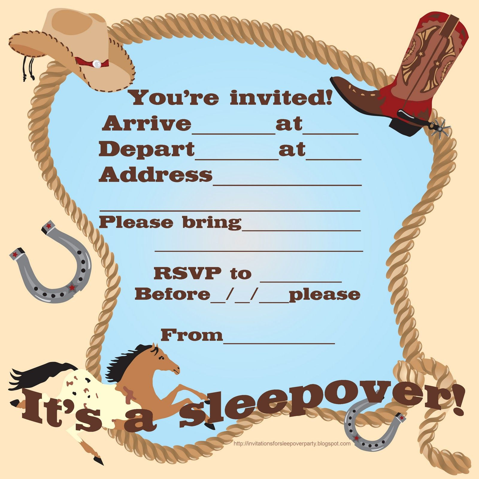 Horse Party Invitations Images - Party Invitations Ideas
