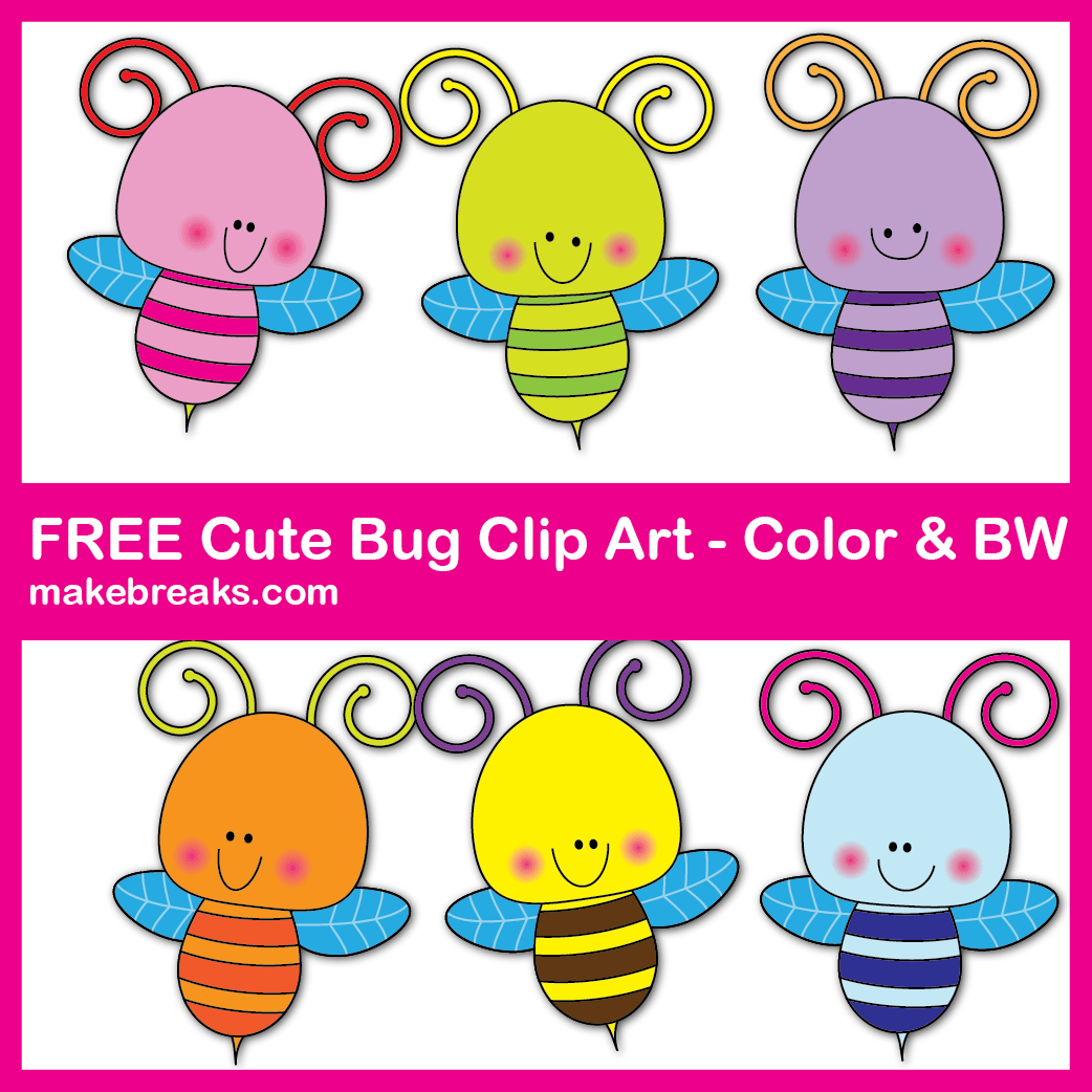 Free Cut Bug Clipart For Teachers #clipartfreebies