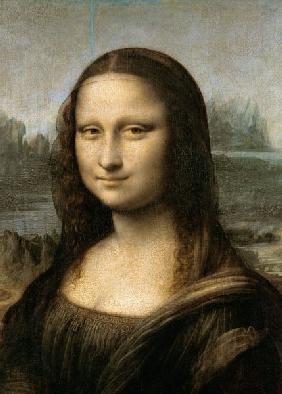 da Vinci Leonardo - Detail of the Mona Lisa, c.1503-6