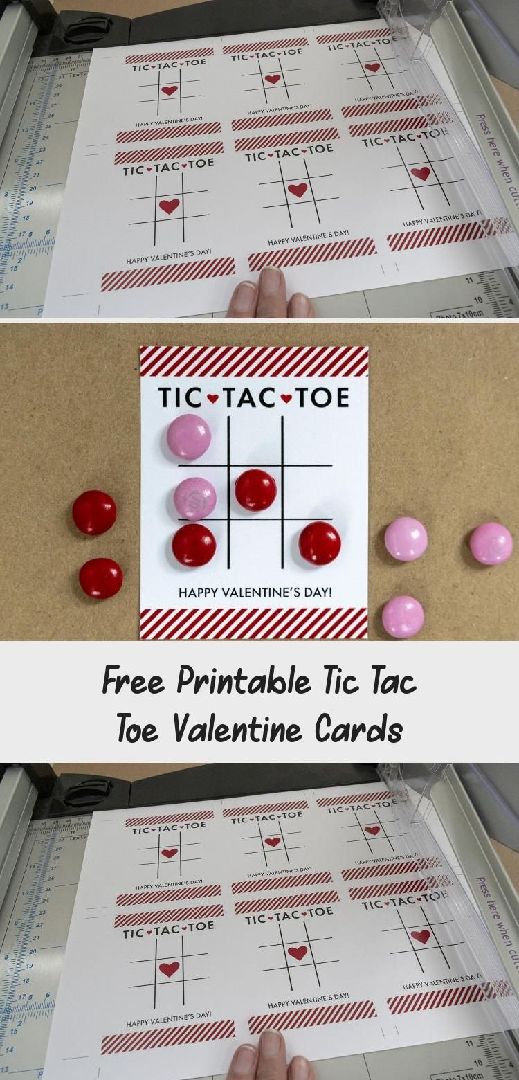 Make these adorable tic tac toe cards for all of your Valentines using M&M's gam...  Make these adorable tic tac toe cards for all of your Valentines using M&M's game pieces. A perfe #Adorable #Cards #gam #MMs #Tac #Tic #Toe #Valentines