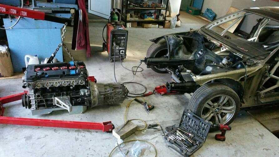 BMW E46 with a turbo Mercedes 3 2 L M104 inline-six | W124