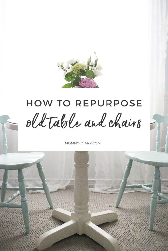 How To Repurpose Old Table And Chairs With Paint