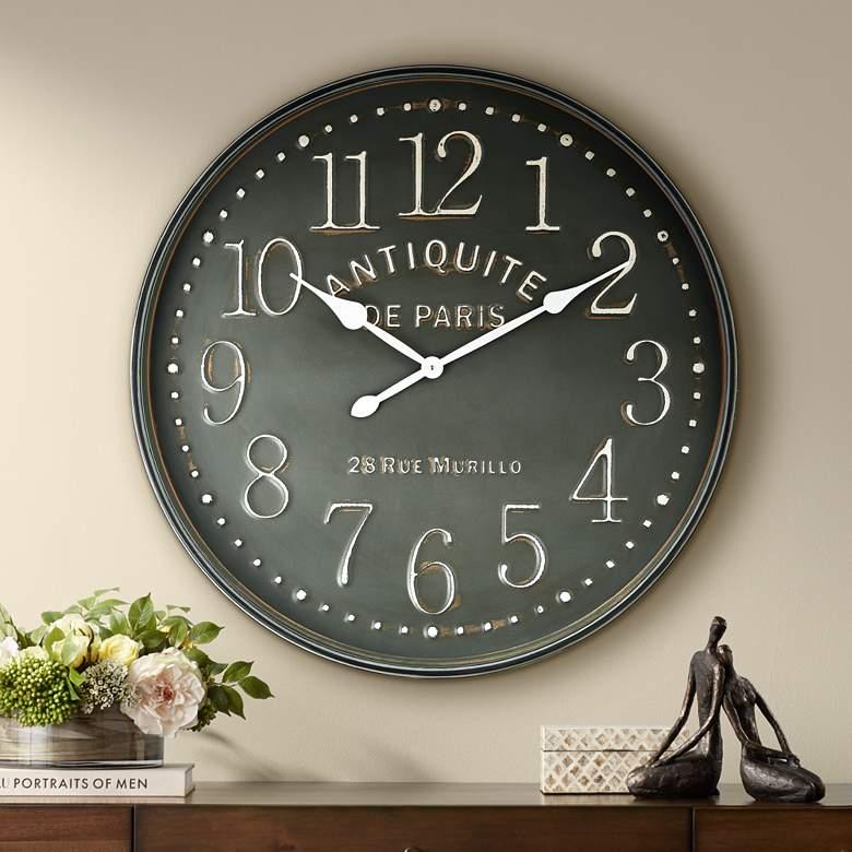Grand Hotel 31 1 2 Wide Antiquite De Paris Wall Clock 47p92 Lamps Plus Large Clock Decor Vintage Wall Clock Wall Clock