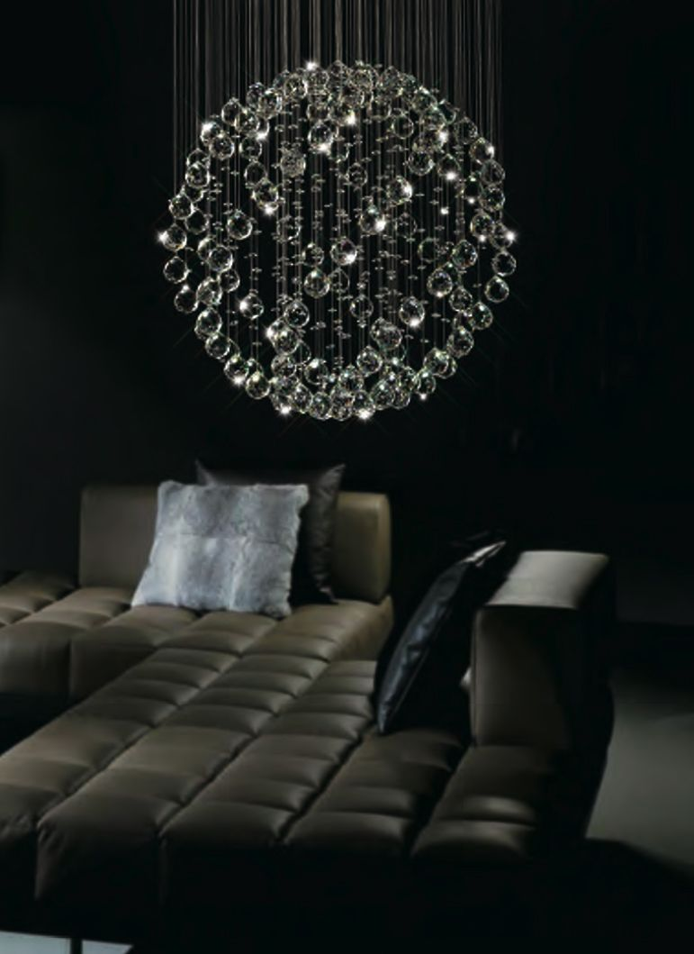 La Luna Floating Crystal Pendant Chandelier from 65395 – Crystal Hanging Chandelier