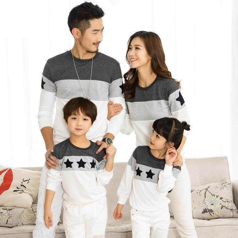 4a3a94217dfe5 2019 Spring Family Clothing T-shirts Couples Clothing Dad Mom Kids ...