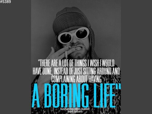 Citaten Muziek : Kurt cobain quote