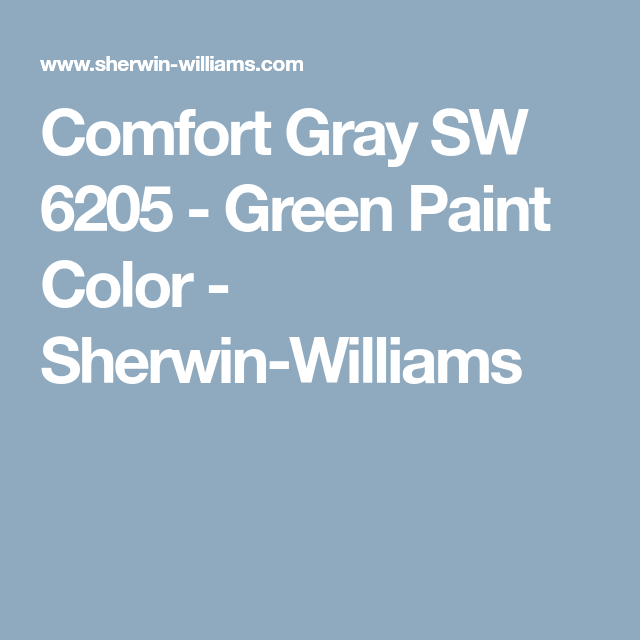 Comfort Gray SW 6205   Green Paint Color   Sherwin Williams