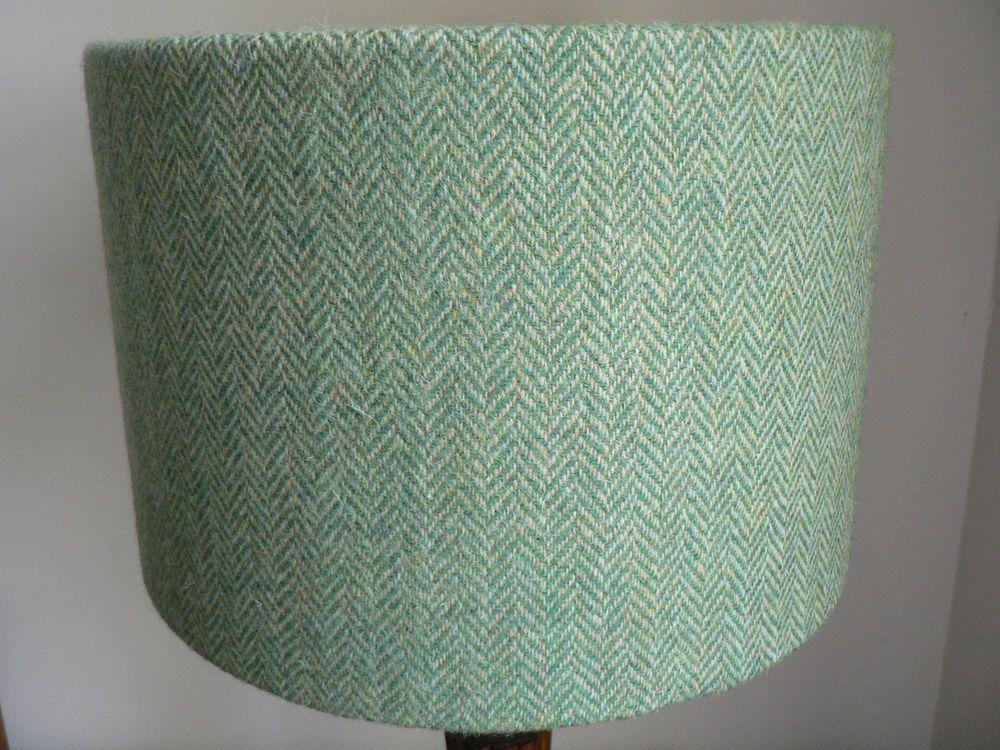 Harris tweed green herringbone drum lampshade 30cm lamp shades harris tweed green herringbone drum lampshade 30cm aloadofball Images