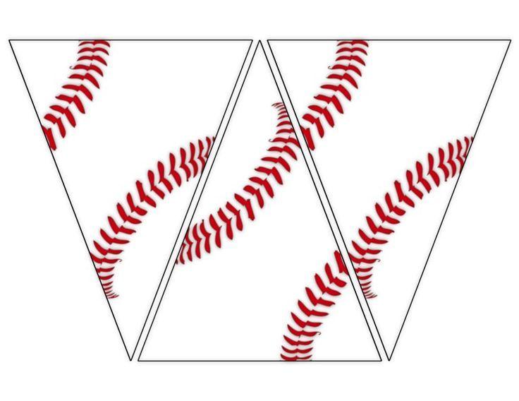 Free Printable Baseball Banner BaseballPartyDekorationen  sports