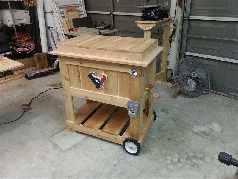 Wooden Bench With Cooler Plans Cooler Box 3 Kreg Jig