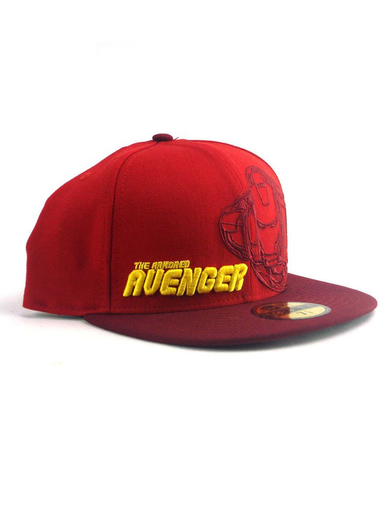 7d7666b25ab New Era Iron Man 59fifty Custom Fitted Hat Size 7 1 2 Armored Avenger Marvel