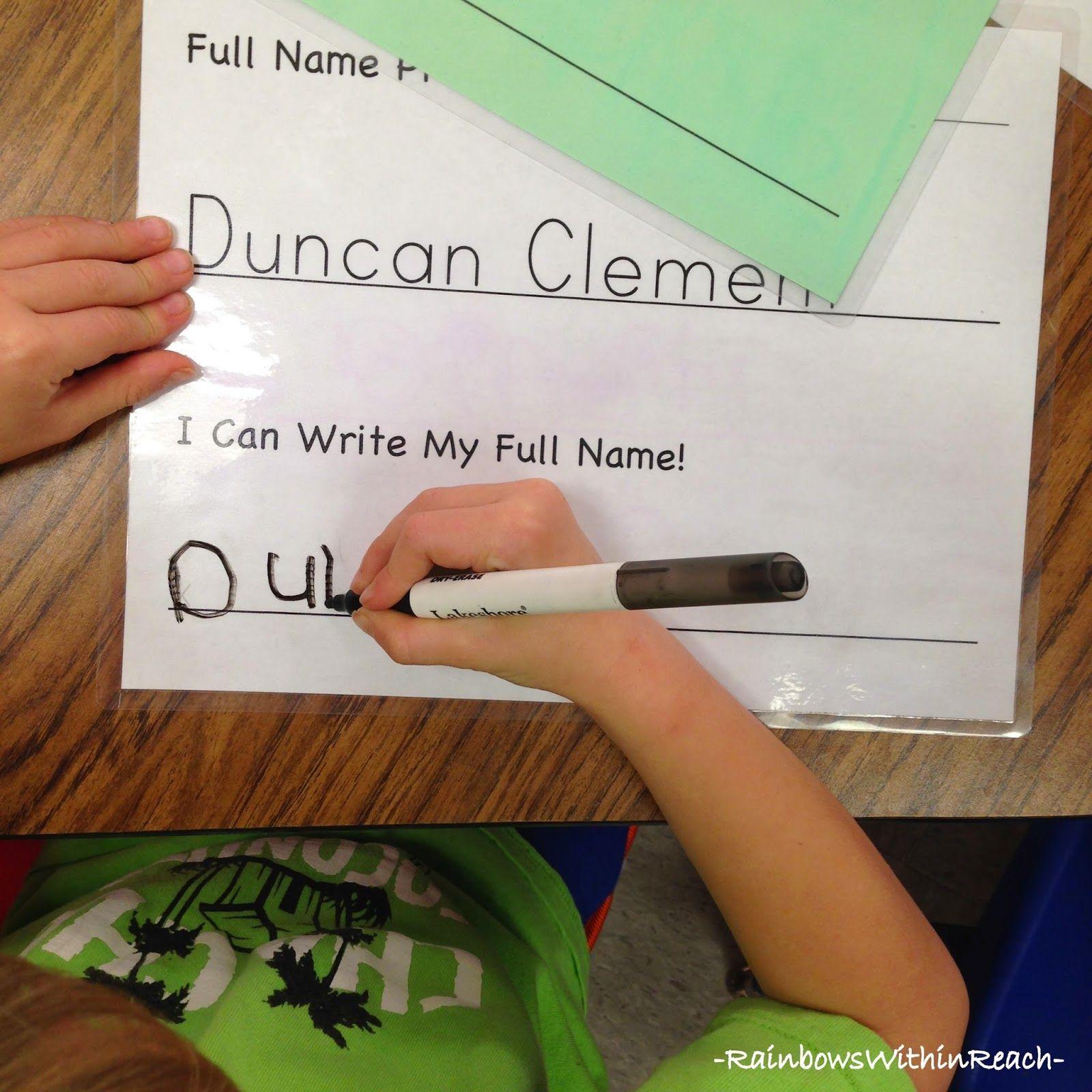 9 Examples Of Fine Motor Name Writing Exercises Writing Exercises