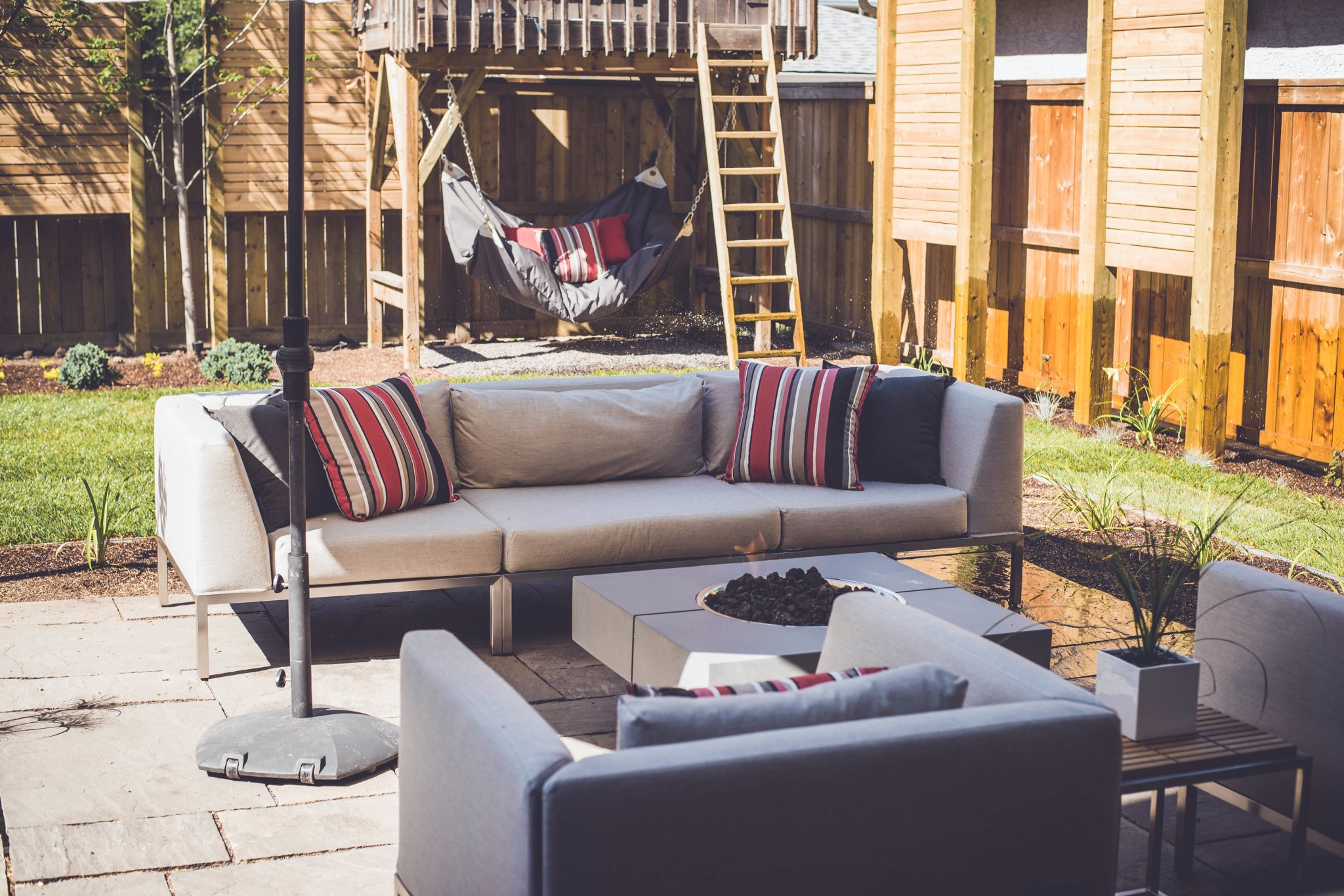 Outdoor Room Designed And Constructed By Baber Design Build