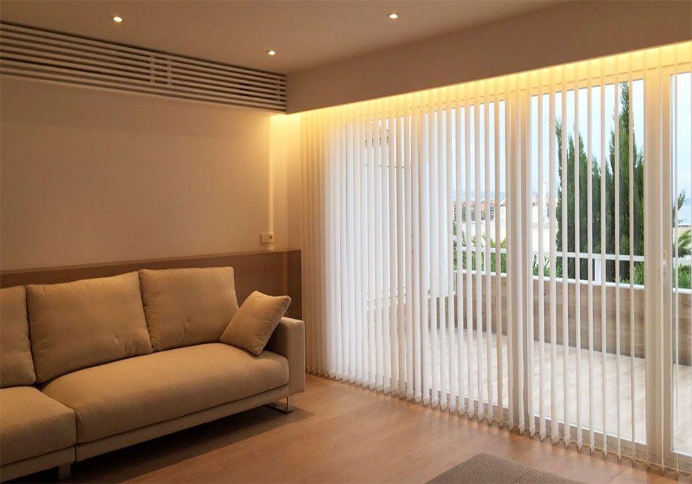 Cortinas verticales en salones ideas para las cortinas - Muebles capsir ...