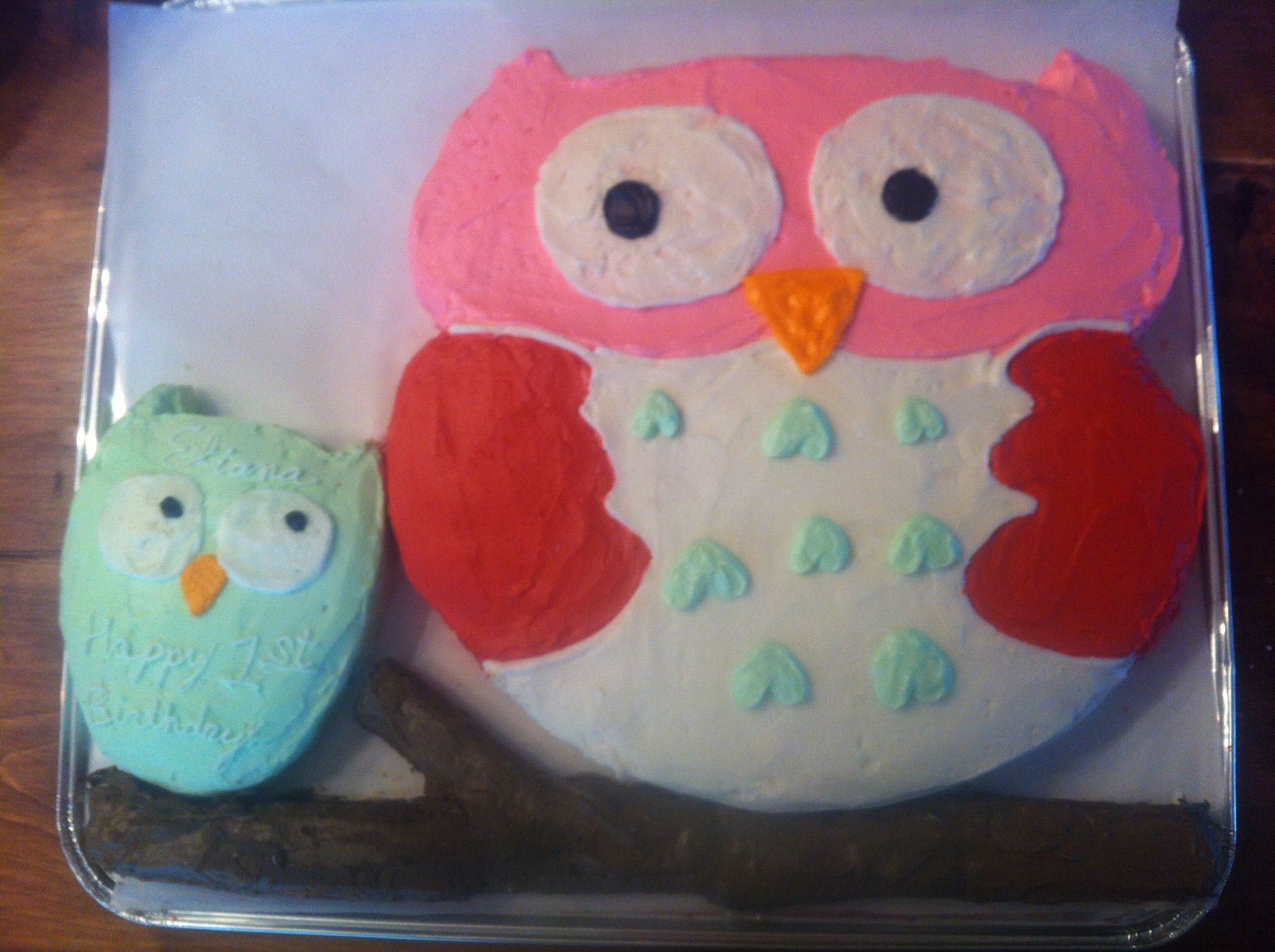 Babys First Birthday Cake The Little Owl Says Happy First Birthday