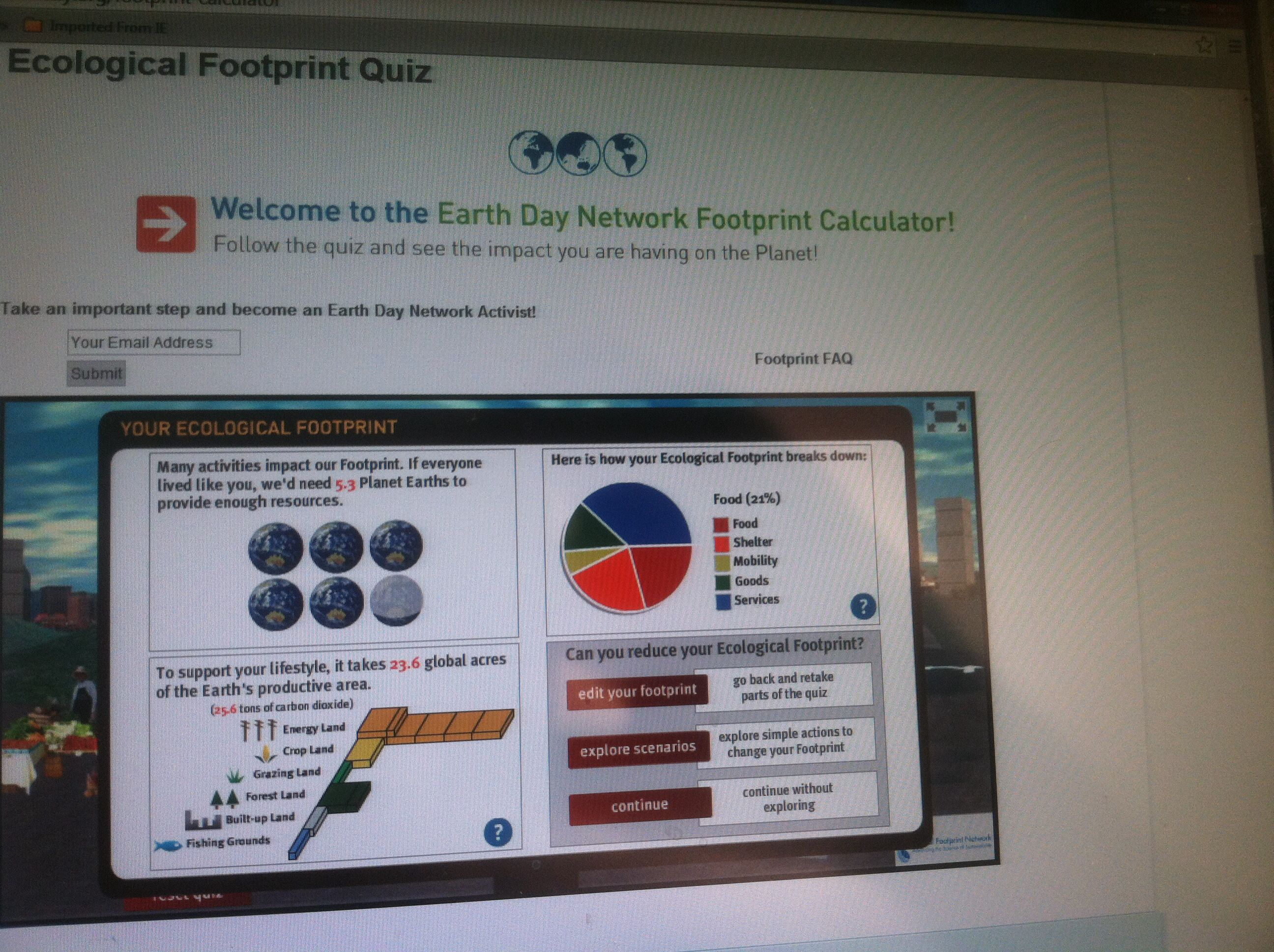 Take This Earth Day Quiz To Estimate Your Ecological Footprint Really Good Info On Earthday