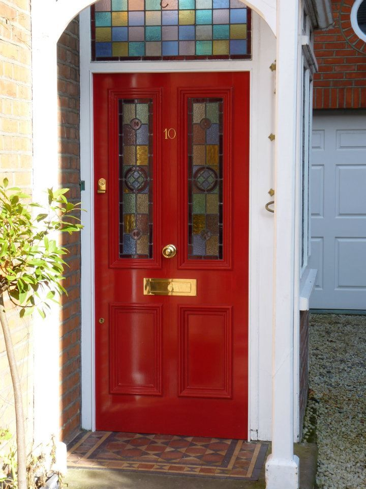 The London Door Company \'Bright Red\' paint colour - Gloss   doors ...