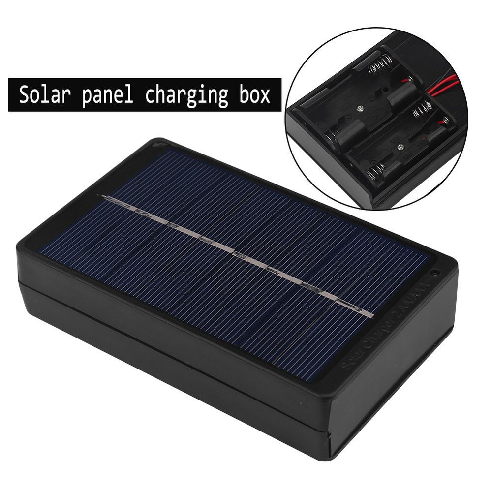 1w Solar Panel Charger Charging Box Outdoor Travel Camping For Aa Aaa Battery Eb Solar Panel Charger Solar Battery Charger Aaa Battery Charger