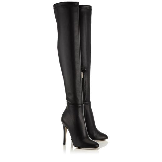 8f59825037d Black Calf and Stretch Nappa Over the Knee Boots - Jimmy Choo