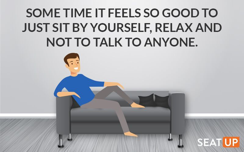 Some Time It Feels So Good To Just Sit By Yourself Relax And Not To Talk To Anyone Quote Relaxing Calmness Sofaideas Relax Feelings Home Decor Decals