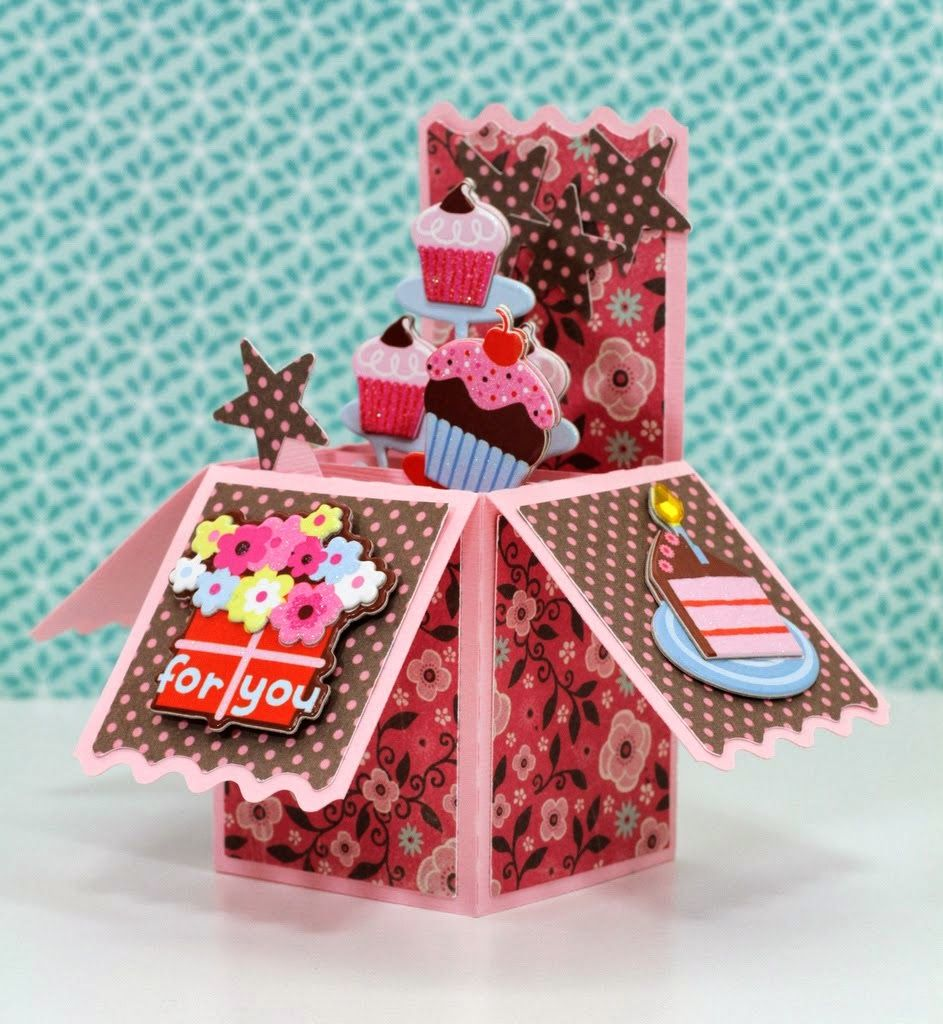 Make It In Minutes Monday A Diy Craft Post From The Blog The Paper Boutique On Bloglovin Boxed Birthday Cards Pop Up Box Cards Box Cards Tutorial