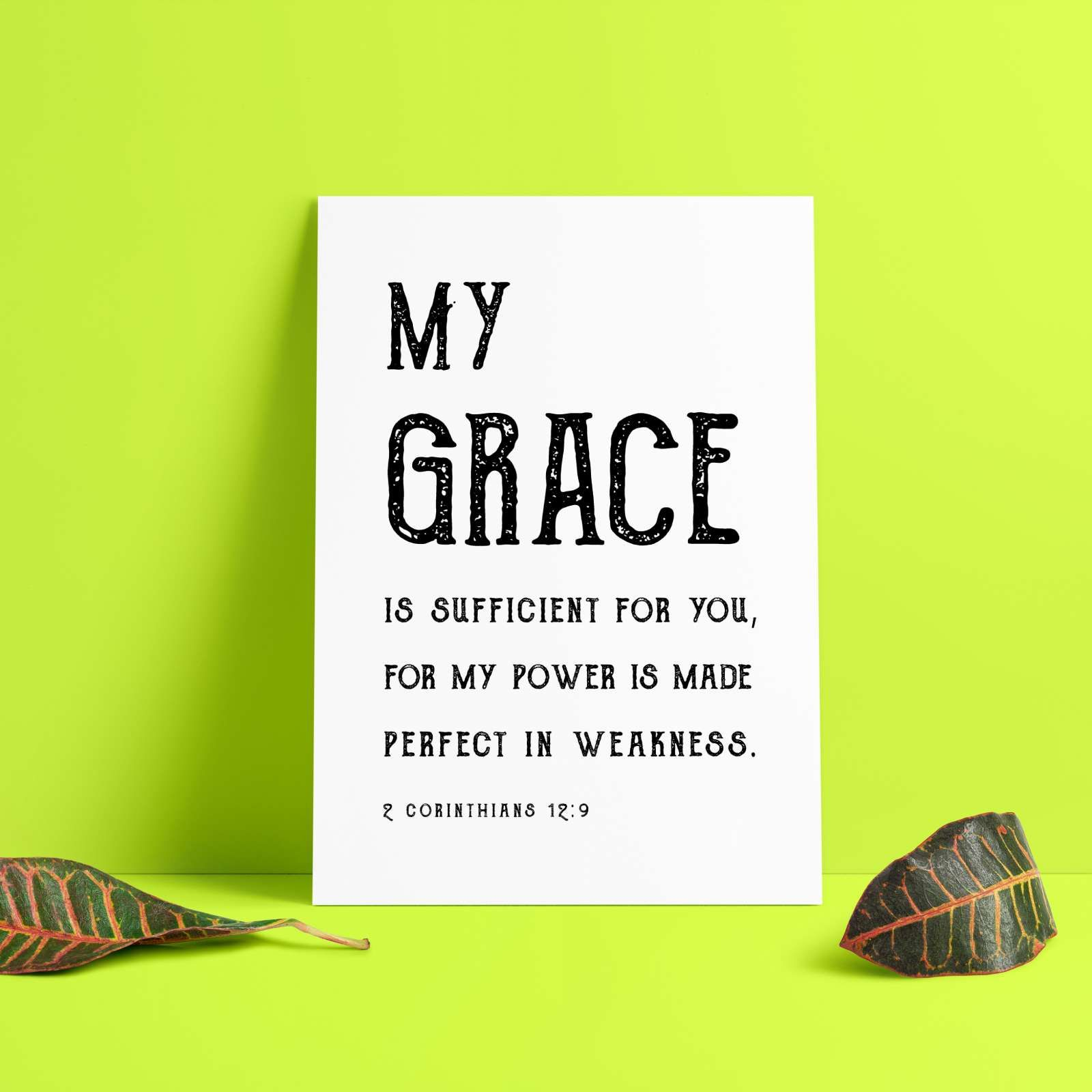 Small Homedecorating: God's Grace Is Sufficient For Us Every Day.