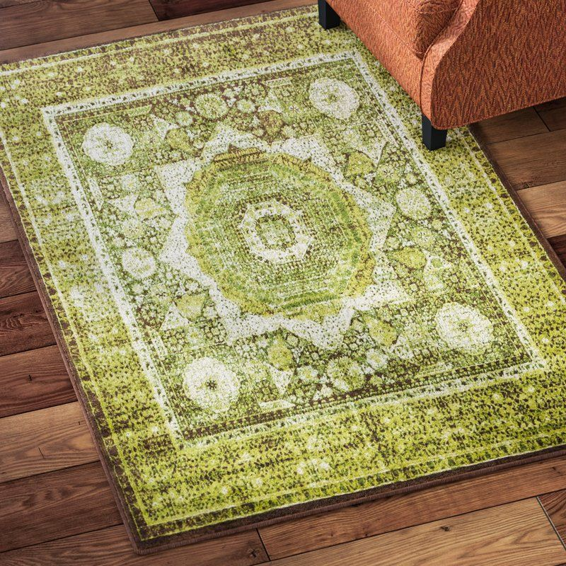 Hezekiah Green Brown Area Rug With Images Area Rugs Purple