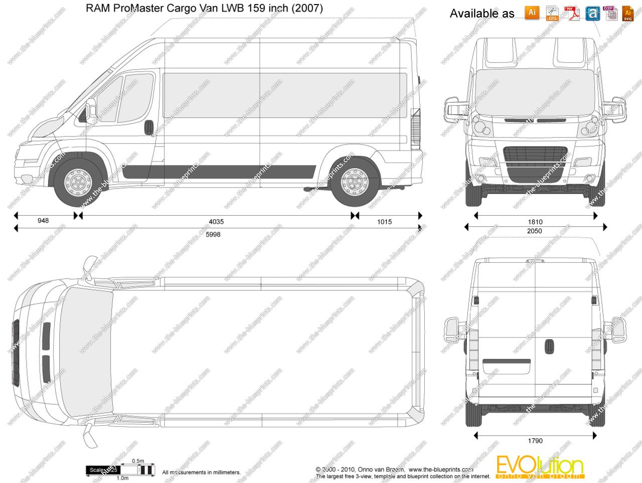 Cargo Van Theblueprints Purchase Vector Format Plan And Elevation File
