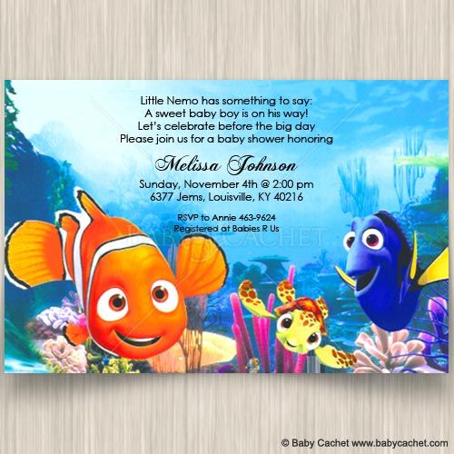 baby shower invitations finding nemo baby shower invitations baby