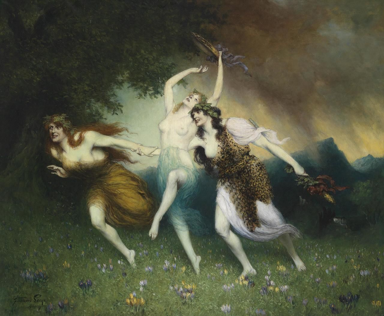 There are the fairlimbed Nymphs o the Woods Look ye Whom kindred Fancies have brought