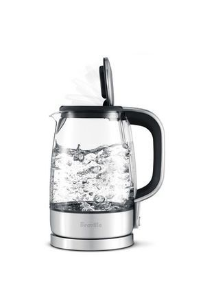 Breville Bke830 The Smart Crystal Clear Kettle Glass Brushed