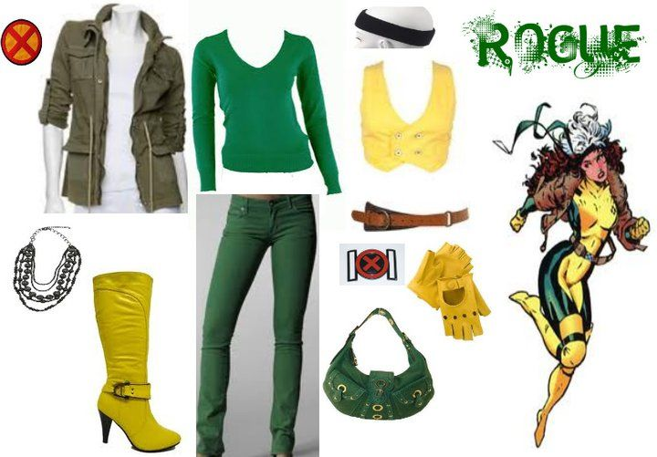 Easy rogue costume idea cosplay pinterest rogue costume easy rogue costume idea solutioingenieria Image collections